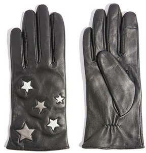 Topshop Women's Metallic Star Leather Gloves
