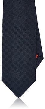 Isaia Men's Dotted Textured Silk Seven-Fold Necktie