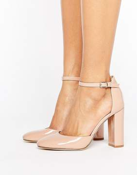 London Rebel Heeled Shoe with Detailed Ankle Straps