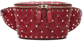 Valentino Small Quilted Rockstud Spike Belt Bag