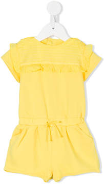 Chloé Kids ruffled bib playsuit