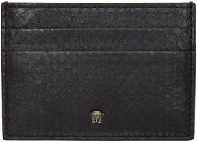 Versace Black Snakeskin Medusa Card Holder