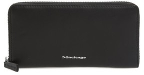 Mackage Women's Duke Zip Around Leather Wallet - Black