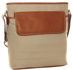 Piel Leather FRONT FLAP SHOULDER BAG