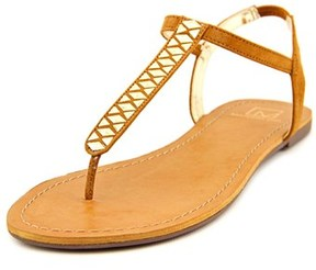 Material Girl Sage Women Open Toe Synthetic Brown Thong Sandal.