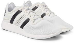 Y-3 Yohji Run Suede-Trimmed Mesh Sneakers