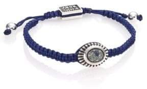 King Baby Studio Turquoise & Sterling Silver Macramé Slide Bracelet