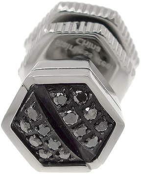 Black Diamond FINE JEWELRY Mens 1/10 CT. T.W. Color-Enhanced Stainless Steel Stud Earring