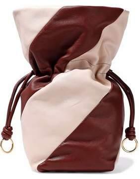 Diane von Furstenberg Two-Tone Leather Bucket Bag