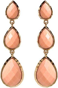 Amrita Singh Peach & Goldtone East Hampton Drop Earrings