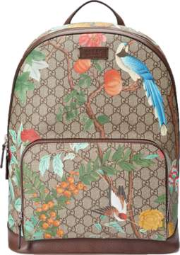 Gucci Tian GG Supreme Backpack Monogram GG Floral Pattern Beige/Ebony/Multicolor