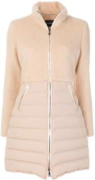 Emporio Armani fur effect padded coat