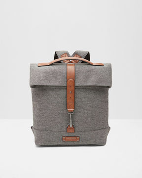 Ted Baker Canvas roll down backpack