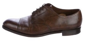 Edward Green Leather Cap-Toe Derby Shoes