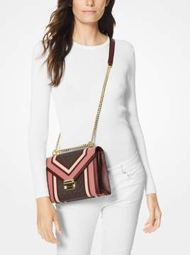 MICHAEL Michael Kors Whitney Large Logo and Leather Convertible Shoulder Bag