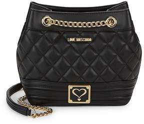 Love Moschino Women's Small Quilted Shoulder Bucket Bag
