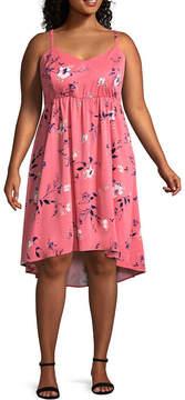 Boutique + + Sleeveless Babydoll Dress - Plus