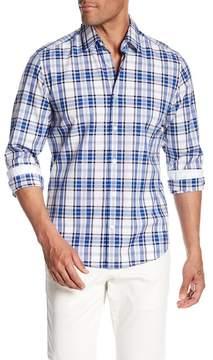 HUGO BOSS Lance Plaid Print Regular Fit Woven Shirt