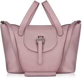 Meli-Melo Mauve Leather Thela Medium Tote Bag