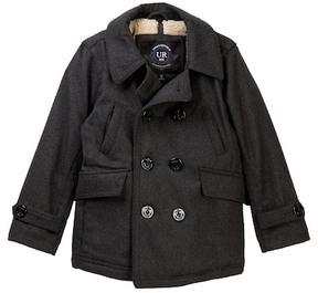 Urban Republic Mix Media Fleece Lined Peacoat Jacket (Little Boys)