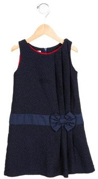 Paul Smith Girls' Bow-Embellished Tweed Dress