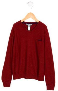 Bonpoint Boys' V-Neck Wool Sweater
