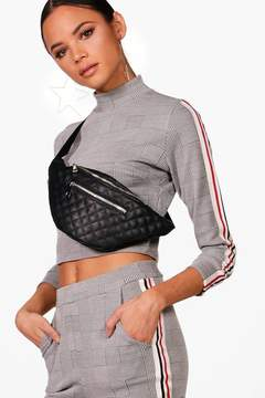 boohoo Quilted Pocket Front Bumbag