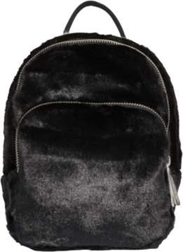 adidas Classic Mini Fur Backpack - Black
