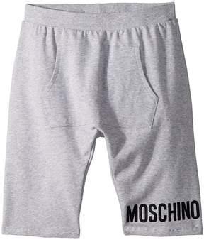 Moschino Kids Sweatshorts w/ Front Pocket Logo Detail Boy's Shorts