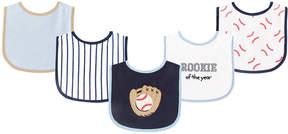 Luvable Friends Navy & White Baseball Bib Set