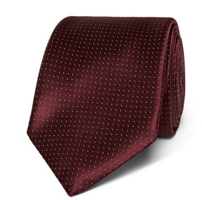 Canali 8cm Pin-Dot Silk-Jacquard Tie