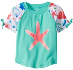 Hatley Ocean Treasures Short Sleeve Rashguard Girl's Swimwear