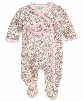 Little Me Baby Coverall, Baby Girls Leopard Print Footie