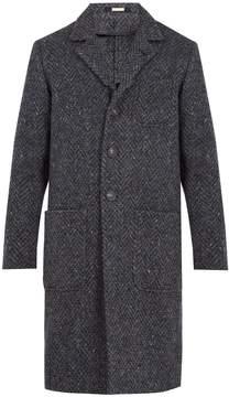 Massimo Alba Chevron-woven wool-blend overcoat