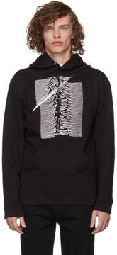 Raf Simons Black Convertible Joy Division Unknown Pleasures Two-Piece Hoodie