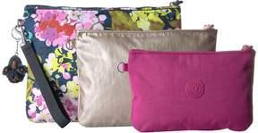 Kipling Iaka Large Wristlet Wristlet Handbags - LUSCIOUS FLOWER BLUE - STYLE