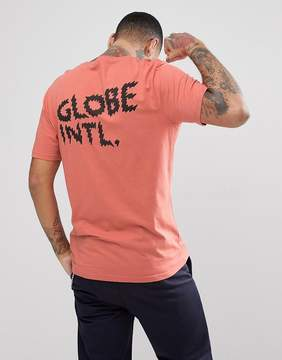 Globe Zap T-Shirt With Back Print In Dusty Coral