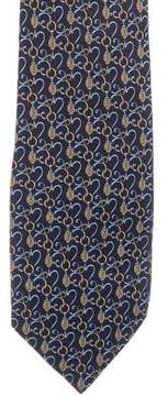 Fendi Logo Rope Print Silk Tie