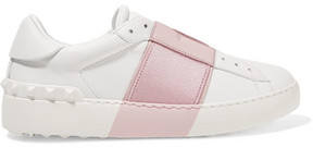 Valentino - Leather Slip-on Sneakers - White