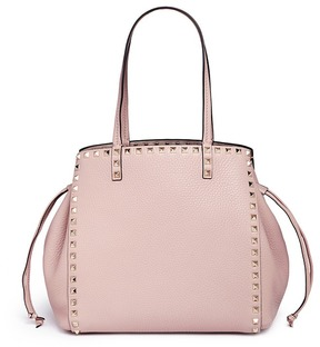 Valentino 'Rockstud' drawstring leather handbag