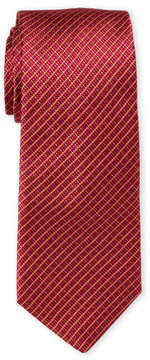 Ike Behar Orange & Yellow Silk Tie