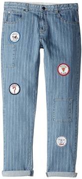 Stella McCartney Lohan Pinstripe Jeans with Patches Boy's Jeans