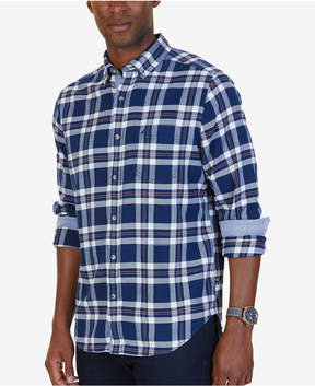 Nautica Men's Classic-Fit Royal Plaid Flannel Shirt