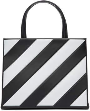 Off-White Black Small Diagonal Box Bag