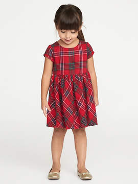 Old Navy Plaid Fit & Flare Dress for Toddler Girls