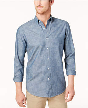 Club Room Men's Chambray Barry Dot Shirt, Created for Macy's