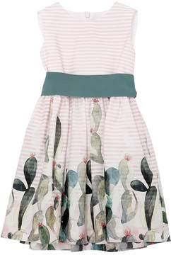 Il Gufo Cactus Print Cotton Poplin Dress