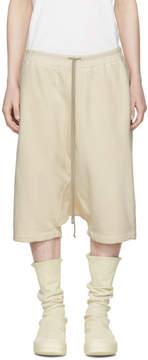 Rick Owens Beige Drawstring Pods Shorts