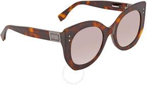 Fendi Pink Gradient Mirror Cat Eye Sunglasses