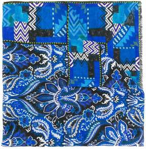 Etro paisley geometric print scarf
